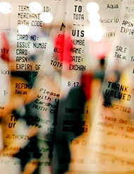 image of receipts