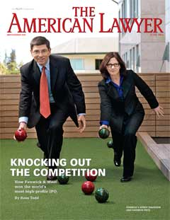 Fenwick & West Profiled in American Lawyer Cover Story